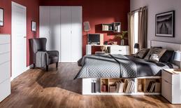 Łóżko z podłogą