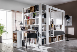 Two-sided bookcase