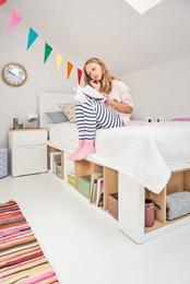 Łóżko 1-osobowe z podłogą
