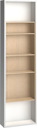 Side bookcase for 4-door wardrobe white
