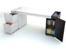 Новаторский письменный стол Transformers с белой столешницей