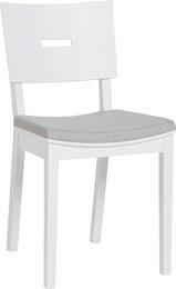 Scaun Simple II tapitat, Scaun Simple II tapitat alb