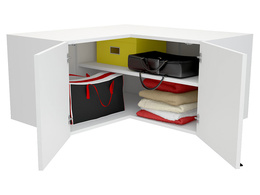 Top unit for corner wardrobe