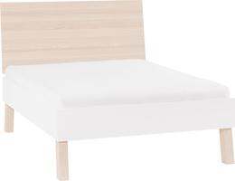 Łóżko 2-osobowe ze szczytem płaskim
