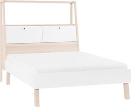 Łóżko 2-osobowe ze szczytem z pojemnikiem