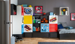 Cube cabinet with drawers
