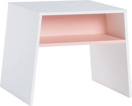 Stolik kol. biały/różowy
