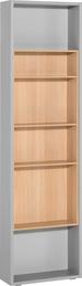 Etajera laterala pentru dulap 4 usi gri