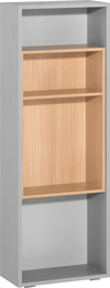 Low side wall bookcase