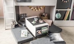 Kontenerek z pojemnikiem (do łóżka multi)