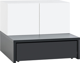 2-door cabinet with base 106x95 and table