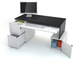 Стол письменный L с ящиком