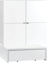 Wide chest of drawers with base 106x95 and table