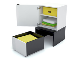 Cube cabinet with base 53x53 and drawer