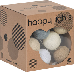 Lampki HAPPY LIGHTS beżowe